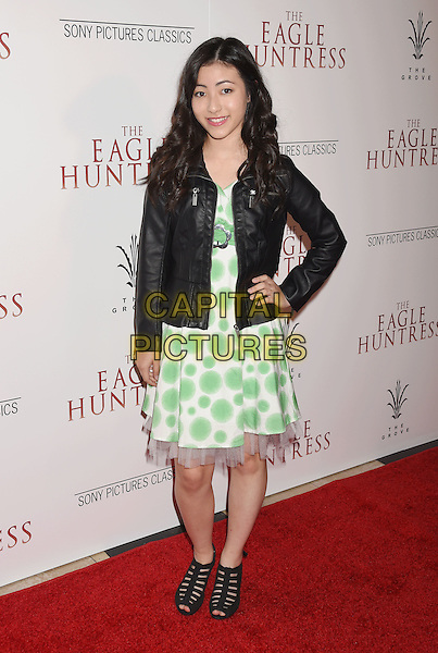 LOS ANGELES, CA - OCTOBER 18: Actress Kristen Li arrives at the Premiere Of Sony Pictures Classics' 'The Eagle Huntress' at Pacific Theaters at the Grove on October 18, 2016 in Los Angeles, California.<br /> CAP/ROT/TM<br /> &copy;TM/ROT/Capital Pictures