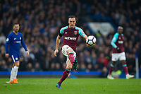 West Ham United's Mark Noble in action <br /> <br /> Photographer Craig Mercer/CameraSport<br /> <br /> The Premier League - Chelsea v West Ham United - Sunday 8th April 2018 - Stamford Bridge - London<br /> <br /> World Copyright &copy; 2018 CameraSport. All rights reserved. 43 Linden Ave. Countesthorpe. Leicester. England. LE8 5PG - Tel: +44 (0) 116 277 4147 - admin@camerasport.com - www.camerasport.com