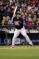 May 19, 2010: Toronto Blue Jays' Vernon Wells (10) at-bat during a game against the Seattle Mariners at Safeco Field in Seattle, Washington.