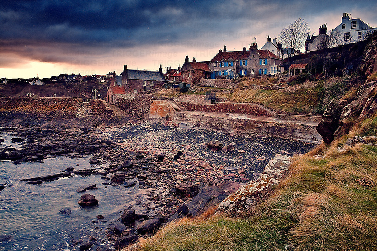 Sunset at Crail Harbor.
