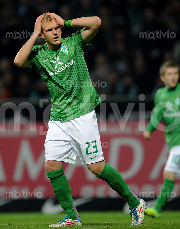 FUSSBALL   1. BUNDESLIGA   SAISON 2011/2012    9. SPIELTAG SV Werder Bremen - Borussia Dortmund                 14.10.2011 Andreas WOLF (Bremen) enttaeuscht