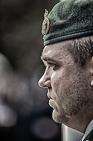 Close up profile of a PPCLI corporal during the Remembrance Day Ceremonies in Oakville.