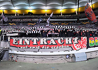 Fans von Eintracht Frankfurt - 20.02.2020: Eintracht Frankfurt vs. RB Salzburg, UEFA Europa League, Hinspiel Round of 32, Commerzbank Arena DISCLAIMER: DFL regulations prohibit any use of photographs as image sequences and/or quasi-video.