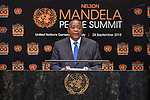 Opening Plenary Meeting of the Nelson Mandela Peace Summit<br /> <br /> His Excellency Uhuru KENYATTAPresident and Commander-in-Chief of the Defence Forcesof the Republic of Kenya