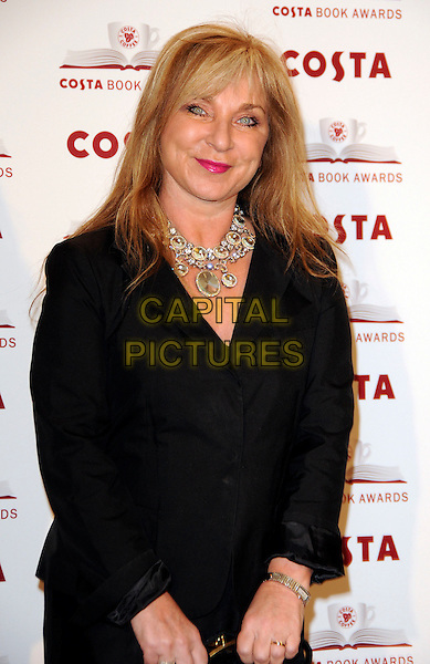 HELEN LEDERER .2009 Costa Book Awards, Intercontinental Hotel, London, England, January 27th 2009..half length black jacket necklace pink lipstick .CAP/CAS.©Bob Cass/Capital Pictures