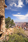 View from the South Rim of the Grand Canyon at the Watchtower, Grand Canyon National Park, Arizona, USA