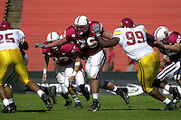 STANFORD, CA - OCTOBER 21: Eric Heitmann of the Stanford Cardinal during Stanford's 32-30 win over the USC Trojans on October 21, 2000 at Stanford Stadium in Stanford, California.