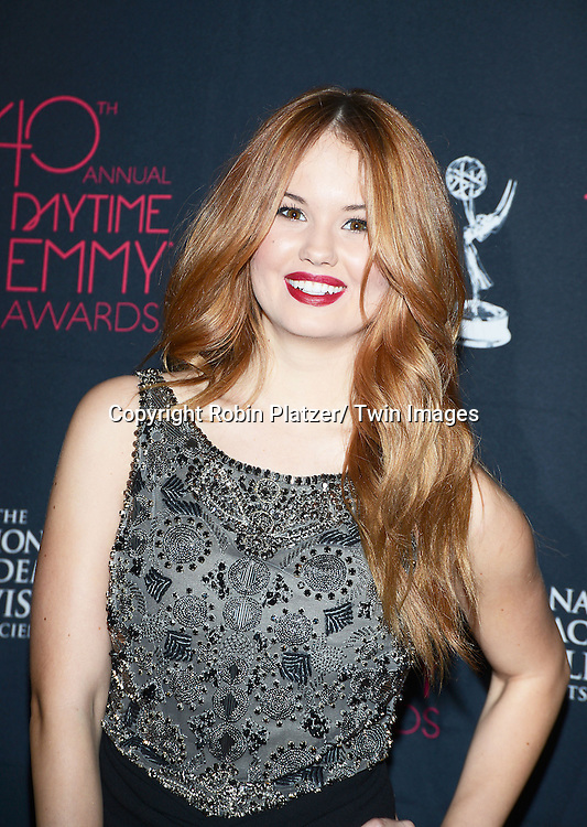 Debby Ryan attends the 40th Annual Daytime Creative Arts Emmy Awards on June 14, 2013 at the Westin Bonaventure Hotel in Los Angeles, California.