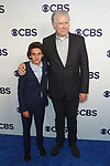 Jack Dylan Grazer (left) and John Larroquette arrive at the CBS Upfront at The Plaza Hotel in New York City on May 17, 2017.