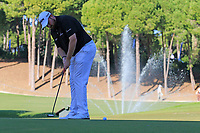 Shane Lowry (IRL) putts on the 17th green during Friday's Round 2 of the 2018 Turkish Airlines Open hosted by Regnum Carya Golf &amp; Spa Resort, Antalya, Turkey. 2nd November 2018.<br /> Picture: Eoin Clarke | Golffile<br /> <br /> <br /> All photos usage must carry mandatory copyright credit (&copy; Golffile | Eoin Clarke)