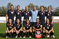US Women's National Soccer Team starting lineup vs Iceland at the Algarve Cup game in Vila Real Sto. Antonio, Portugal.