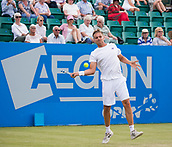 June 14th 2017, Nottingham, England; ATP Aegon Nottingham Open Tennis Tournament day 5;  Lloyd Glasspool of Great Britain on centre court