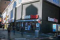 A Gamestop video game store on Fulton Street in Downtown Brooklyn in New York is seen on Saturday, January 26, 2013. (© Richard B. Levine)