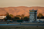 Control Tower and runway at Buchanan Field Airport, Concord, California