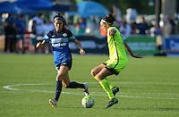 Kansas City, MO - Saturday June 25, 2016: Erika Tymrak, Havana Solaun during a regular season National Women's Soccer League (NWSL) match at Swope Soccer Village.