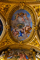 Intricate ceilings, Louvre Museum, Paris, France.