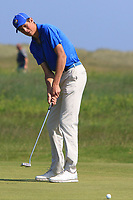 Christo Lamprecht (RSA) on the 9th green during Round 4 of the East of Ireland Amateur Open Championship 2018 at Co. Louth Golf Club, Baltray, Co. Louth on Monday 4th June 2018.<br /> Picture:  Thos Caffrey / Golffile<br /> <br /> All photo usage must carry mandatory copyright credit (&copy; Golffile | Thos Caffrey)