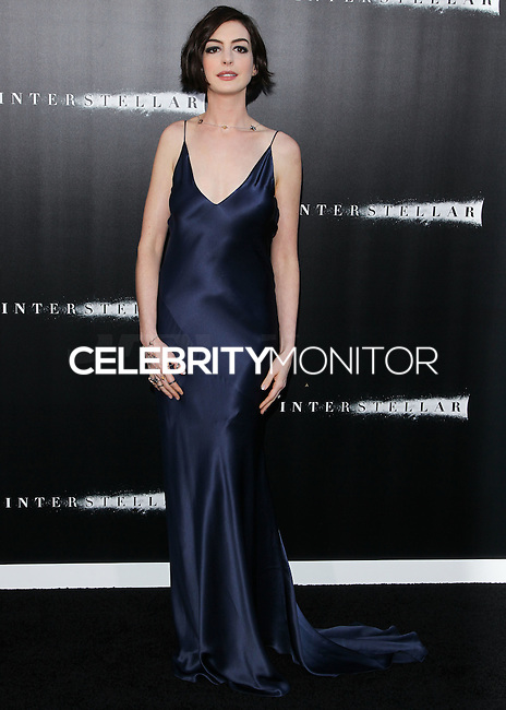 HOLLYWOOD, LOS ANGELES, CA, USA - OCTOBER 26: Anne Hathaway arrives at the Los Angeles Premiere Of Paramount Pictures' 'Interstellar' held at the TCL Chinese Theatre on October 26, 2014 in Hollywood, Los Angeles, California, United States. (Photo by Celebrity Monitor)