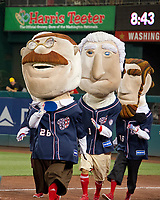&quot;Teddy&quot; wins the President's Race during the 56th Annual Congressional Baseball Game for Charity where the Democrats play the Republicans in a friendly game of baseball at Nationals Park in Washington, DC on Thursday, June 15, 2017.<br /> Credit: Ron Sachs / CNP/MediaPunch (RESTRICTION: NO New York or New Jersey Newspapers or newspapers within a 75 mile radius of New York City)