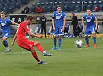 Mark Uth (1.FC Köln) beim Foulelfmeter<br /> <br /> Foto: POOLFOTO/Avanti/Ralf Poller/PIX-Sportfotos.<br /> TSG 1899 Hoffenheim-1. FC Koeln.<br /> Sinsheim,  GER, 27.05.2020 , 28. Spieltag , Fussball 1. Bundesliga 2019/2020.<br /> <br /> Sport: Fussball: LIGA: Saison 19/20: TSG 1899 Hoffenheim- 1.FC Koeln, 27.05.2020.<br /> Foto: RALF POLLER/AVANTI/POOL<br /> <br /> Nur für journalistische Zwecke! Only for editorial use! <br /> Gemäß den Vorgaben der DFL Deutsche Fußball Liga ist es untersagt, in dem Stadion und/oder vom Spiel angefertigte Fotoaufnahmen in Form von Sequenzbildern und/oder videoähnlichen Fotostrecken zu verwerten bzw. verwerten zu lassen. DFL regulations prohibit any use of photographs as image sequences and/or quasi-video.