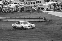Cale Yarborough, #11 Oldsmobile, drives in the grass on the way to 2nd place finish 1978 Firecracker 400 NASCAR race, Daytona International Speedway, Daytona Beach, FL, July 4, 1978.  (Photo by Brian Cleary/ www.bcpix.com )