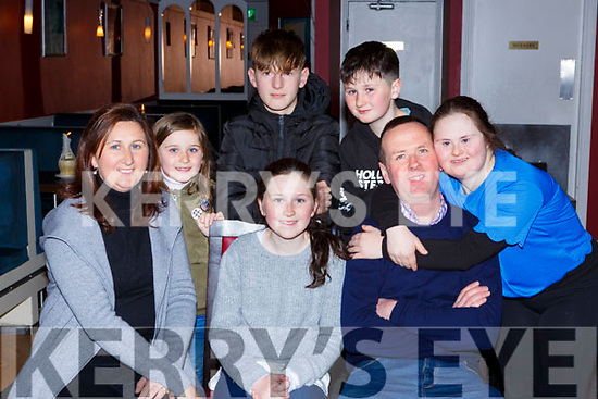 The Cronin family Ballydowney, Killarney out for a meal in Salvados restaurant Killarney on Saturday night  front l-r: Bernie, Aoife and Denis Cronin. back row: Molly Cronin, Callum O'Grady, Tom and Niamh Cronin