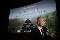 Sven Nys being interviewed at the S V E N movie première