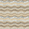 Beige Waves, a waterjet stone mosaic, shown in polished Crema Marfil, honed Jura Grey, polished Calacata Tia.