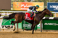 "ELMONT, NEW YORK - OCT 7: Diversity #1, ridden by Irad Ortiz Jr., wins the Jockey Club Gold Cup, a ""Win & You're In' event, at Belmont Park on October 6, 2017 in Elmont, New York. ( Photo by Eclipse Sportswire/Getty Images)"