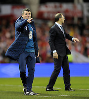 29th March 2015; UEFA EURO 2016 Championship Qualifier Group D, Ireland vs Poland, Aviva Stadium, Dublin<br /> Republic of Ireland assistant manager Roy Keane with manager Martin O&rsquo;Neill.<br /> Picture credit: Tommy Grealy/actionshots.ie.