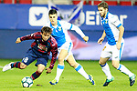 SD Eibar's Takashi Inui (l) and CD Leganes' Unai Bustinza (c) and Darko Brasanac during La Liga match. September 15,2017. (ALTERPHOTOS/Acero)