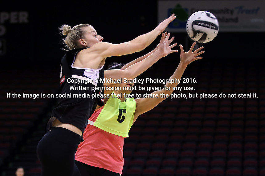 19.10.2016 Silver Ferns Katrina Grant in action during the Silver Ferns Training in Invercargill. Mandatory Photo Credit ©Michael Bradley.