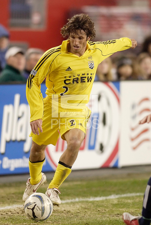 The Columbus Crew's Frankie Hejduk. The New England Revolution defeated the Columbus Crew 3 to 0 during the Revolution's MLS home opener at Gillette Stadium, Foxboro. MA, on Saturday April 9, 2005.