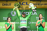 World Champion Peter Sagan (SVK) Bora-Hansgrohe retains the sprints Green Jersey at the end of Stage 3 of the 2018 Tour de France a Team Time Trial running 35.5km from Cholet to Cholet (35,5km, France. 9th July 2018. <br /> Picture: ASO/Pauline Ballet | Cyclefile<br /> All photos usage must carry mandatory copyright credit (&copy; Cyclefile | ASO/Pauline Ballet)