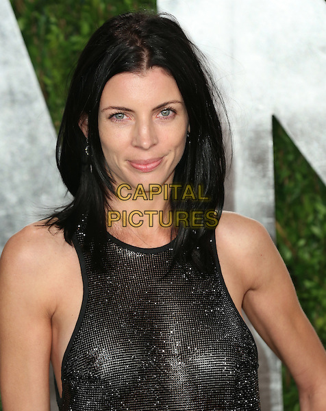 Liberty Ross.2013 Vanity Fair Oscar Party following the 85th Academy Awards held at the Sunset Tower Hotel, West Hollywood, California, USA..February 24th, 2013.oscars headshot portrait black sleeveless see through thru nipples .CAP/ADM/SLP/DOW.©Dowling/StarlitePics/AdMedia/Capital Pictures
