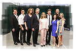 John Treacy Egan, Kevin Zak, Judy Gold, Tom Galantich, Kerry Butler, Duke Lafoon, Veronica Kuehn, Dale Hensley and Gretchen Wylder and cast  during the 'Clinton The Musical' - Sneak Peek at Ripley Grier Studios on March 4, 2015 in New York City.