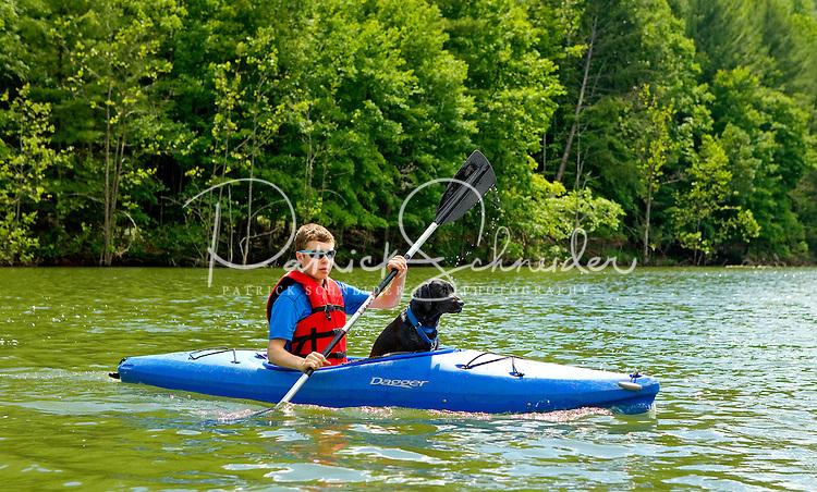 Exploring Watauga Lake in eastern Tennessee.
