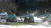 PUTNEY, LONDON, ENGLAND, 05.03.2006, CUBC; Cambridgevs Molesey BC, Cambridges  right to left] No.5  Sebastian Schulte; No.6 Kieran West; No.7 Tom James; Pre 2006 Boat Race Fixtures,.   © Peter Spurrier/Intersport-images.com[Mandatory Credit Peter Spurrier/ Intersport Images] Varsity Boat Race, Rowing Course: River Thames, Championship course, Putney to Mortlake 4.25 Miles
