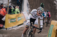 CX World Champion Sanne Cant (BEL/Iko-Beobank) in the infamous &quot;Pit&quot;<br /> <br /> Superprestige Zonhoven (BEL) 2018