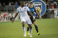 SAN JOSE,  - SEPTEMBER 1: Kamal Miller #27 of the Orlando City SC during a game between Orlando City SC and San Jose Earthquakes at Avaya Stadium on September 1, 2019 in San Jose, .
