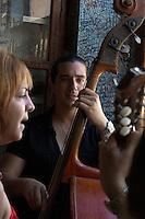 musicians in bar El B del M - Havana, Vieja Cuba