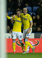 Leeds United's Pablo Hernandez celebrates scoring his side's third goal <br /> <br /> Photographer David Horton/CameraSport<br /> <br /> The EFL Sky Bet Championship - Reading v Leeds United - Tuesday 12th March 2019 - Madejski Stadium - Reading<br /> <br /> World Copyright &copy; 2019 CameraSport. All rights reserved. 43 Linden Ave. Countesthorpe. Leicester. England. LE8 5PG - Tel: +44 (0) 116 277 4147 - admin@camerasport.com - www.camerasport.com