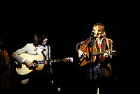 Neil Young &amp; Steven Stills of Crosby, Stills, Nash &amp; Young performing on their '4 Way Street' tour at the Boston Garden in Boston, MA on May 29,  1970.<br /> &copy; Peter Tarnoff / MediaPunch