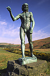 Glenkiln near Dumfries sculpture by John the Baptist by Auguste Rodin Scotland UK