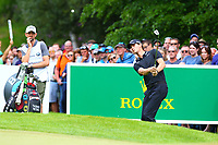 Thomas Pieters chips on to the 4th green during the BMW PGA Golf Championship at Wentworth Golf Course, Wentworth Drive, Virginia Water, England on 28 May 2017. Photo by Steve McCarthy/PRiME Media Images.