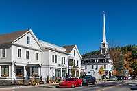 The charming village of Stowe, Vermont, USA.