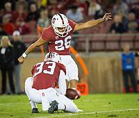 Stanford, CA - October 5, 2019: Alex Gracey, Jet Toner at Stanford Stadium. The Stanford Cardinal beat the University of Washington Huskies 23-13.
