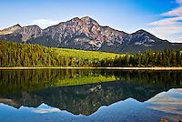 Beautiful Patricia Lake at Jasper National Park Alberta Canada.