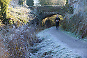 29/11/16<br /> <br /> Temperatures this morning plunged to an icy minus three degrees celsius making the Cromford Canal freeze over near Matlock, Derbyshire.<br /> <br /> All Rights Reserved F Stop Press Ltd. +44 (0)1773 550665