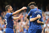 Tammy Abraham celebrates scoring Chelsea's second goal during Chelsea vs Sheffield United, Premier League Football at Stamford Bridge on 31st August 2019